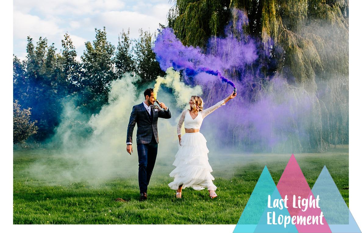 Alternative wedding photographer elopement