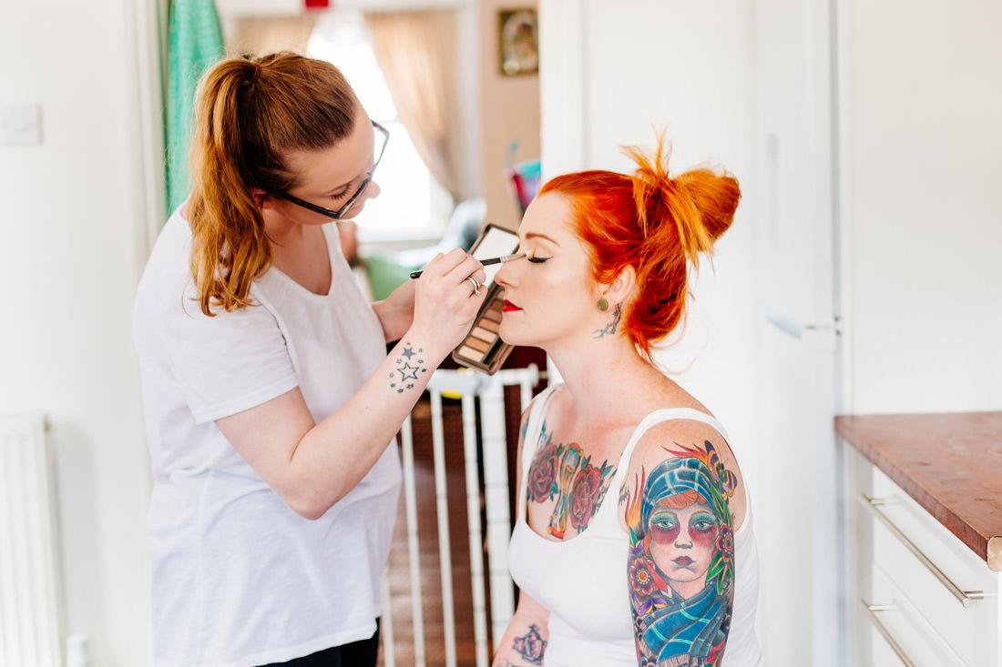alternative wedding photographer-tattoo quirky bride