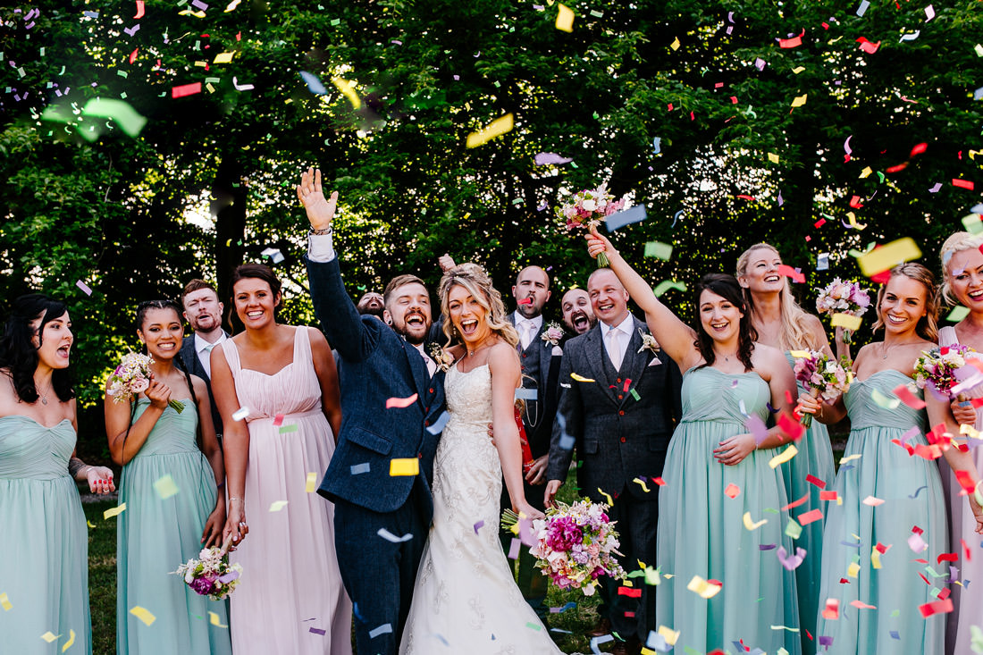 Alternative Kent Wedding Photographer-confetti