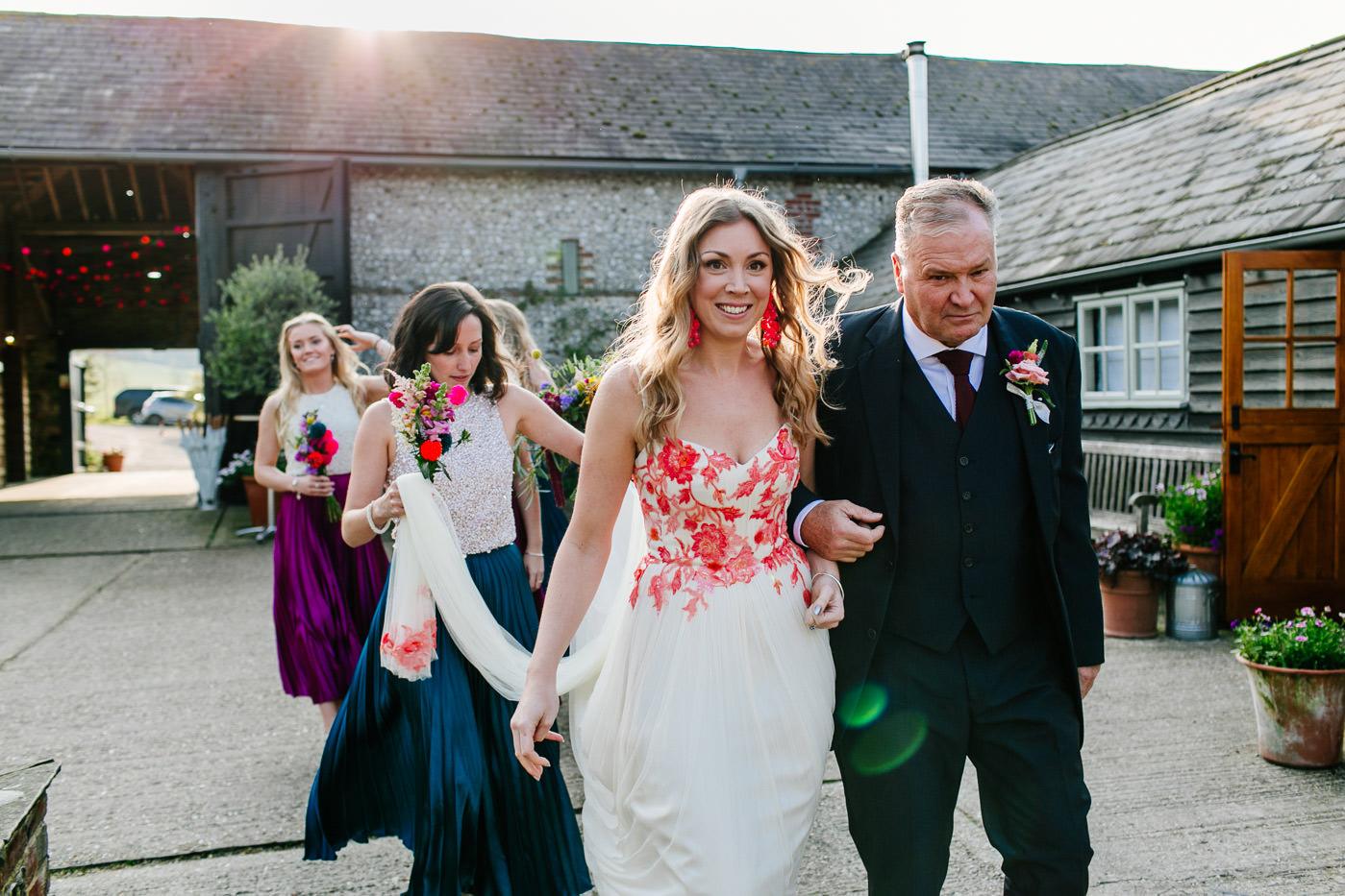 colourful-upwaltham-barns-sussex-wedding-photographer-035