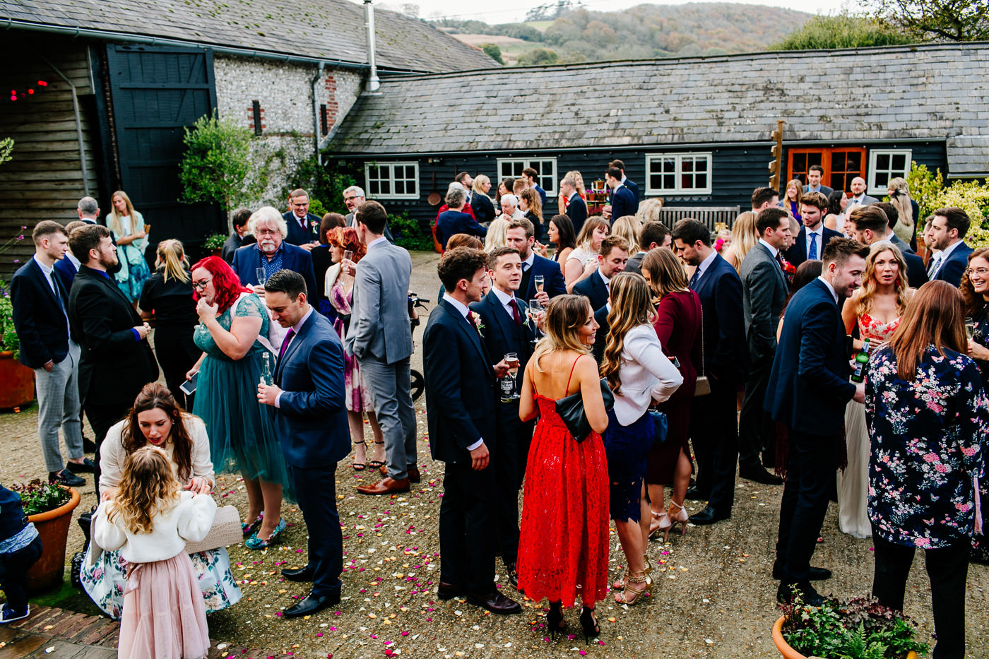 colourful-upwaltham-barns-sussex-wedding-photographer-049