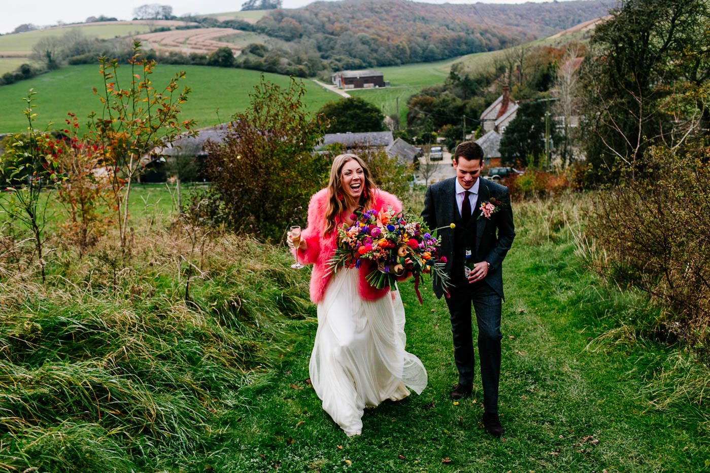 colourful-upwaltham-barns-sussex-wedding-photographer-062