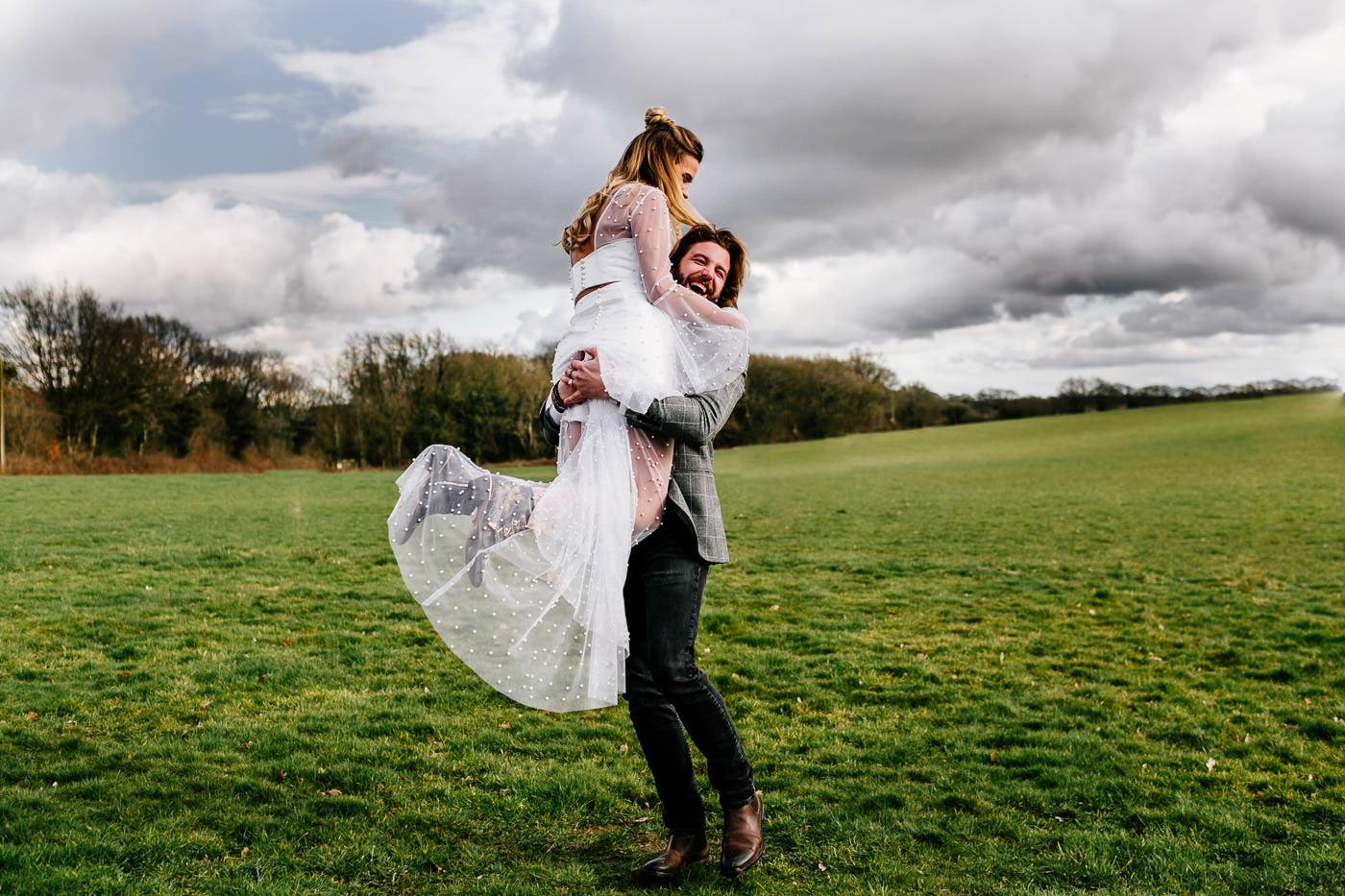 fun elopement wedding photographer london
