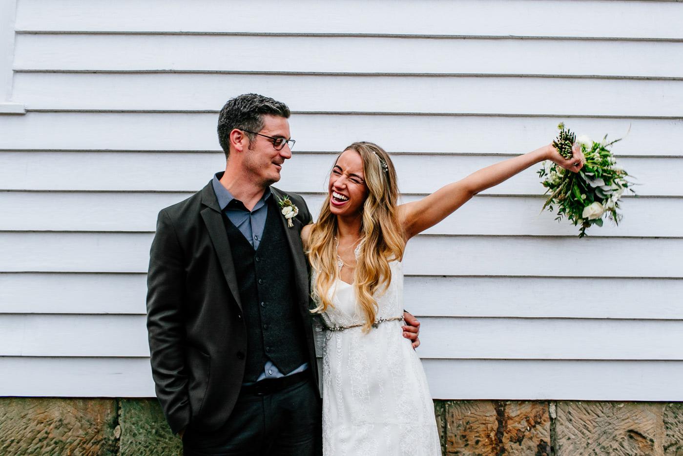 fun alternative Scotland wedding photographer