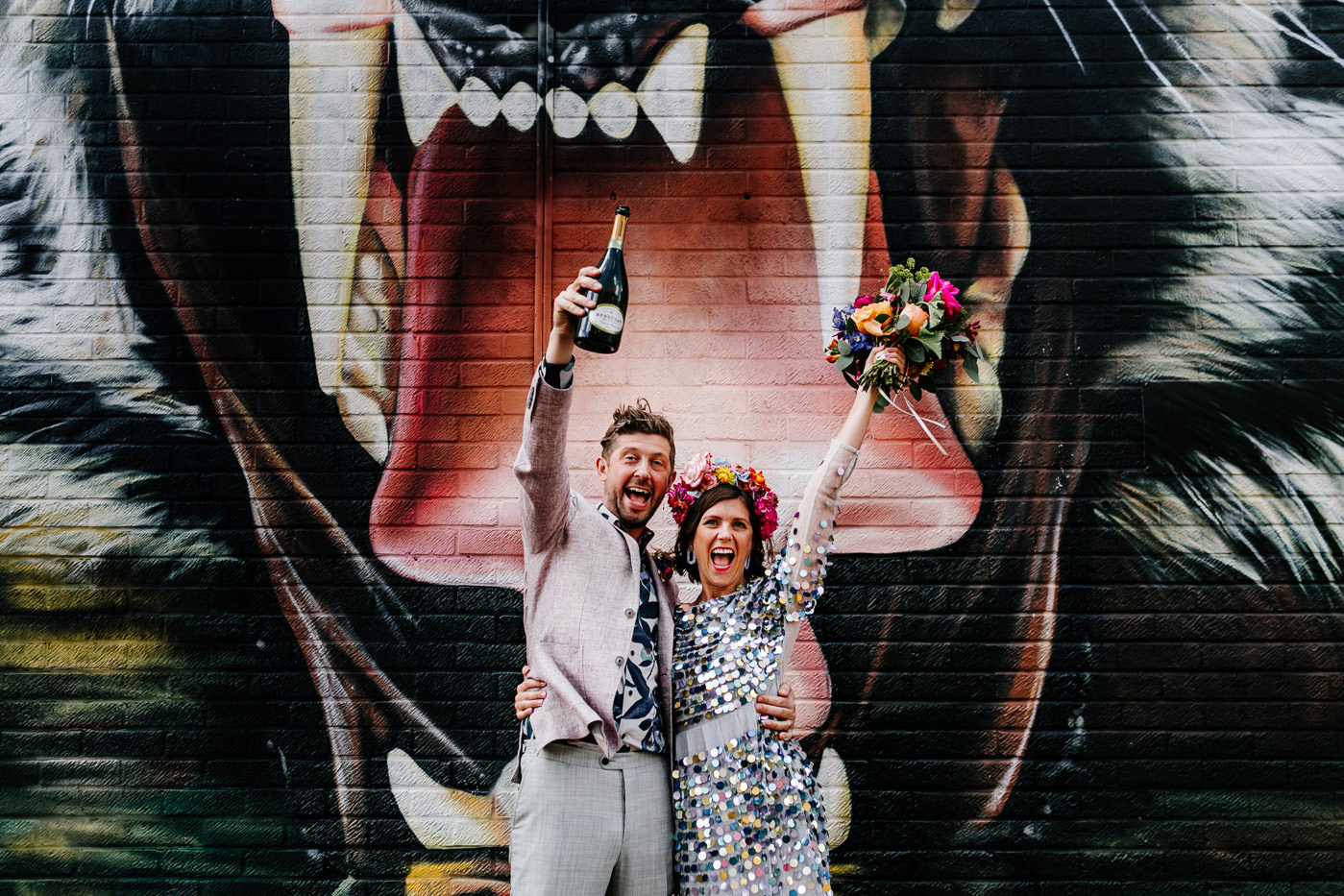 fun, alternative shoreditch wedding photographer - ace hotel