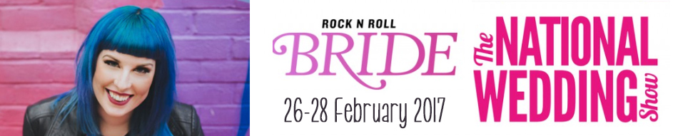 Unique wedding fair rock n roll bride