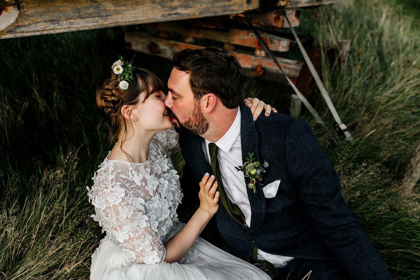 Alternative KENT wedding photographer rustic woodland barn wedding