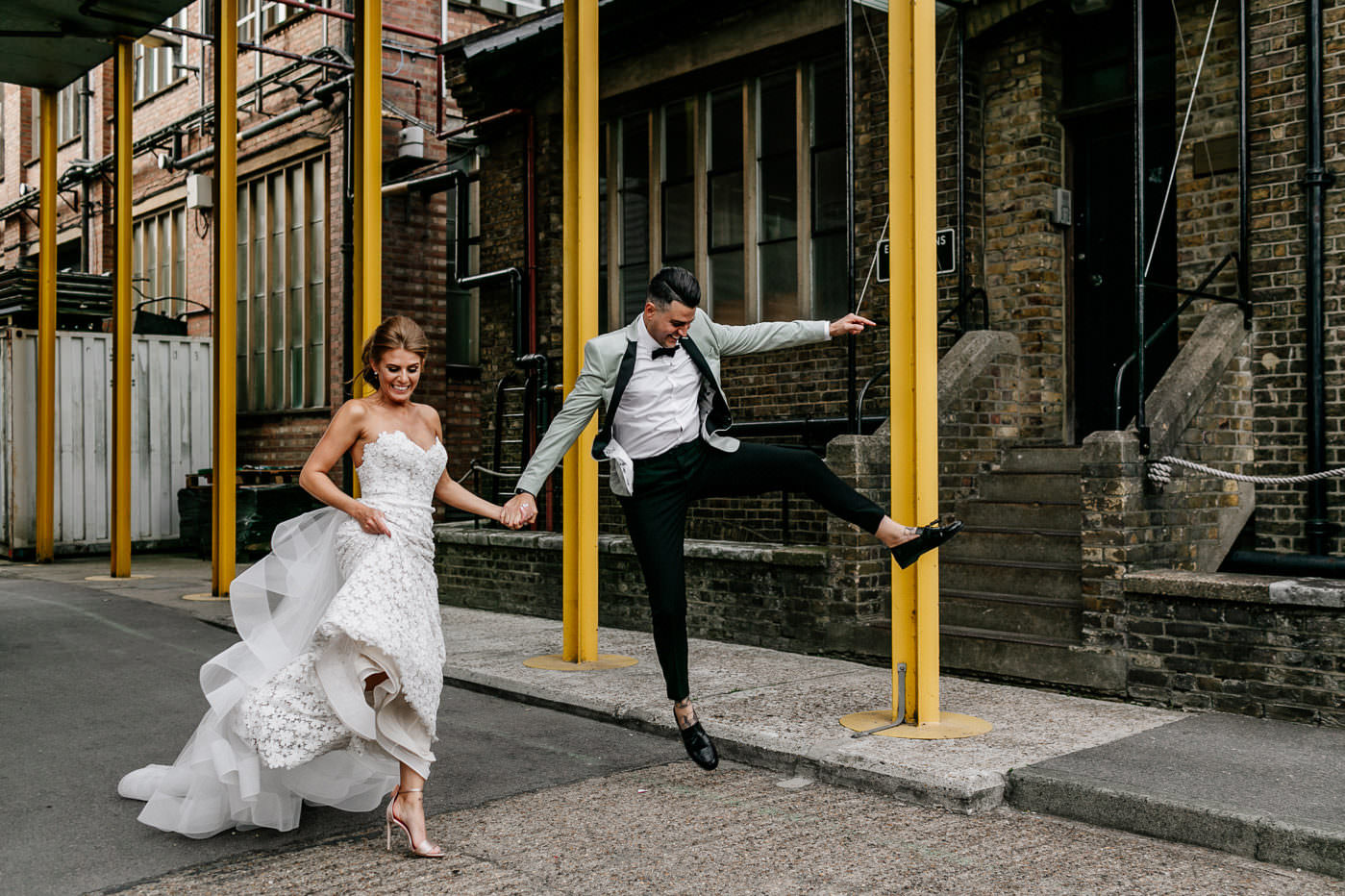 Alternative, fun, edgy London + UK Destination Wedding photographer