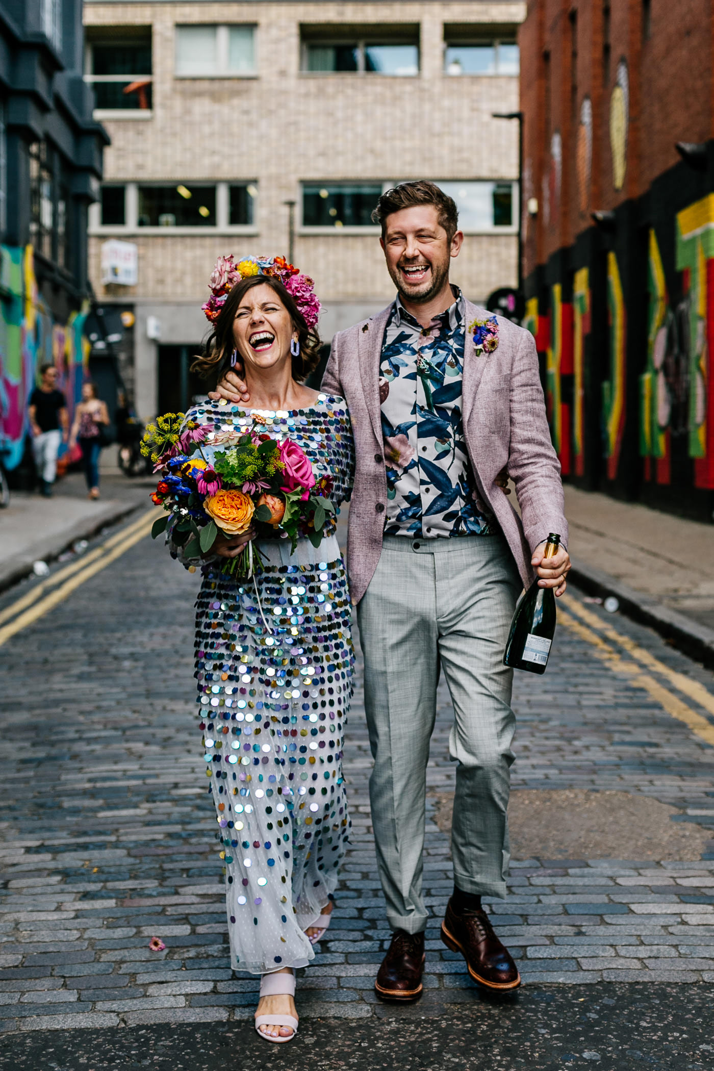 alternative fun london wedding photographer