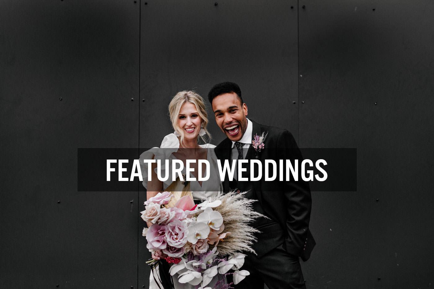 Stylish, modern wedding photography in London